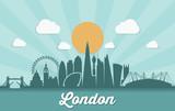 London skyline - flat design