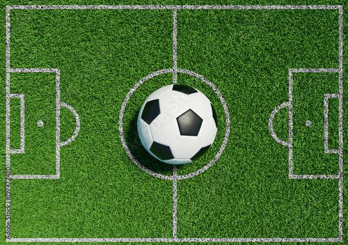 Futbol na trawie boisko piłkarskie