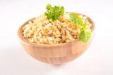 bowl of barley grain - 197473053