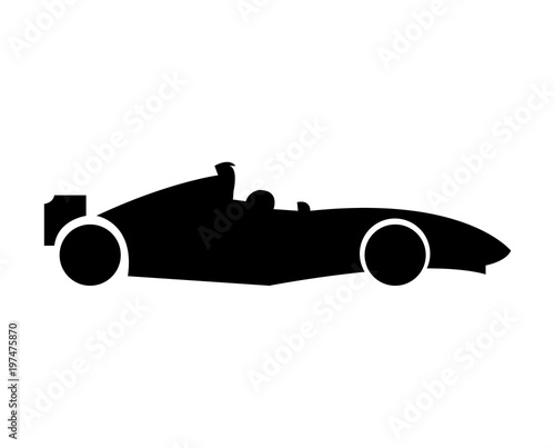 Fotobehang F1 Formula 1 car bolid icon