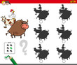 shadow activity game with farm animals