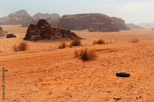 Wadi Rum desert Jordan Poster