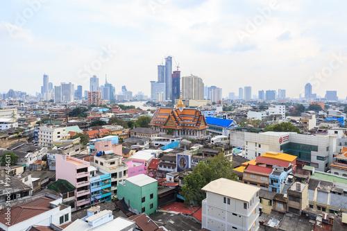 Tuinposter Bangkok vue aérienne de chinatown