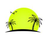 island palms vector - 197491660
