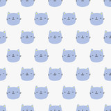 seamless cat pattern - 197496004