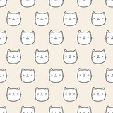 seamless cat pattern - 197496018