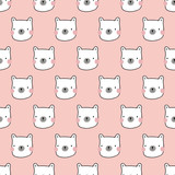 seamless bear pattern - 197496021