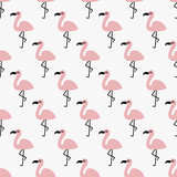 seamless flamingo pattern - 197496036