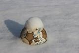 soccer ball in snow