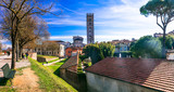 Travel in Italy -medieval Lucca town with beautiful parks, Tuscany
