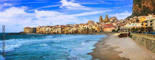 Aluminium Freesurf Cefalu - beautiful coastal town in Sicily, Italy