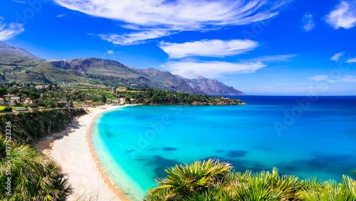 Fotobehang Freesurf Italian holidays .Best beaches of Sicily island - Scopello