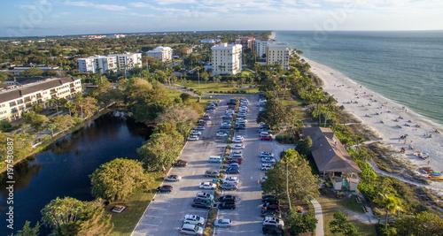 Fotobehang Napels Aerial view of Naples Beach, Florida