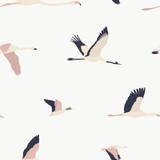 Maison de fleurs. Birds seamless pattern #14 - 197531280