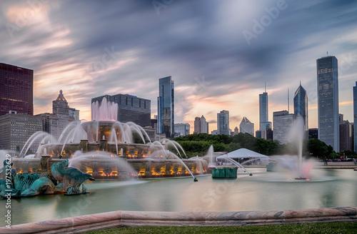 Aluminium Chicago Buckingham fountain in Grant Park, Chicago
