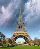 Thunderstorm over Eiffel Tower in Paris