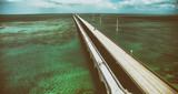 Aerial view of Seven Miles Bridge along Overseas Highway, Florida