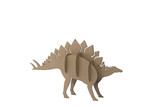 Stegosaurus toy isolated on white background. paper dinosaur made out of cardboard.