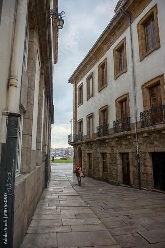 Plexiglas Smalle straatjes Calles de Santiago de Compostela