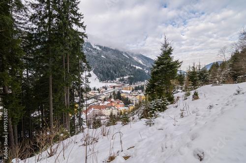 Bad gastein, a little village in the alps during winter