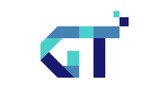 GT Digital Ribbon Letter Logo