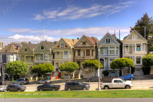 Plexiglas San Francisco Painted Ladies, the famous victorian homes at Alamo Park, San Francisco
