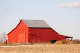 Ohio farm with red barn - 197570206