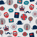 funky color pop art british pattern - 197570476