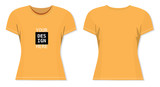 vector mockup for color t-shirt - 197571840