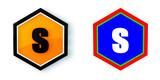 Ikona sześciobok 3D sześciokąt - 197572450