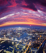 London city sunset, mystic aerial view - 197593841