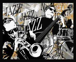 Jazz band on a grunge background © Isaxar