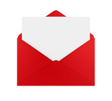Envelope with Blank Paper Isolated - 197598045
