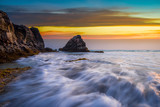 Beautiful sunset seascape for summer time background.