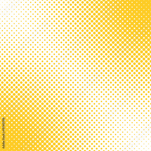 Geometrical halftone dot pattern background - vector graphic design from circles in varying sizes