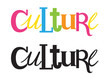 CULTURE custom letters icon
