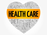 HEALTH CARE heart word cloud, fitness, sport, health concept - 197616201