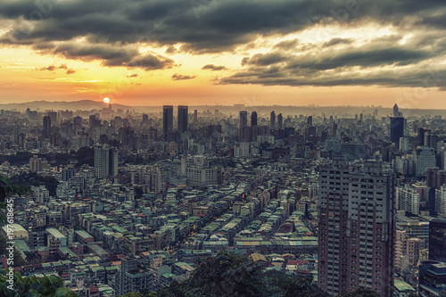 Taipei Cityscape From Above Poster