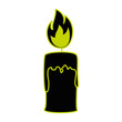 paraffin candle isolated icon vector illustration design