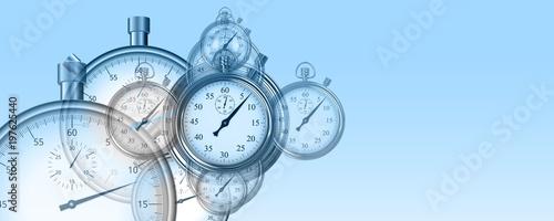Temps et chronomètres performance arrière-plan