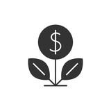 Dollar tree black icon