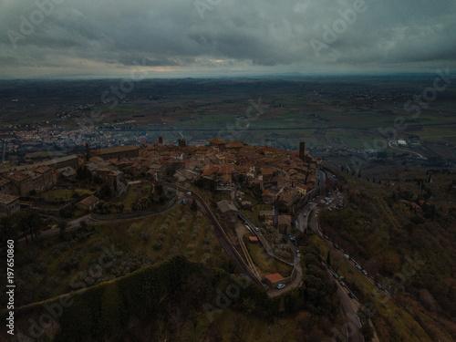 Foto op Aluminium Grijze traf. Landscape aerial