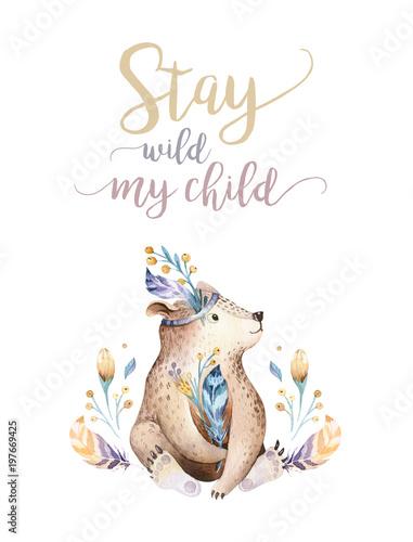 sliczny-czeski-dziecko-niedzwiedzia-zwierze-dla-przedszkola-drewno-pepiniera-odizolowywajaca-dekoraci-lasowa-ilustracja-dla-dzieci-lasowych-zwierzat-wzorow-zestaw-ciagnione-akwarela-boho