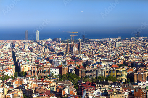 Foto op Canvas Barcelona Barcelona view at day
