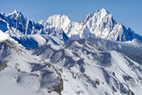 snowy mountains and height