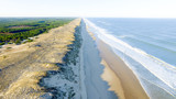 aerial view of coasts in Atlantic Gironde in France