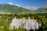 The picturesque rocks near the village of Mestia, Svaneti region, Georgia