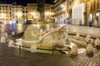 Spanish Steps at night. Rome - Italy.