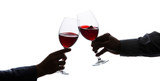 toasting with wine glasses   - 197743288