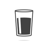 Glass of water icon vector transparent - 197750425